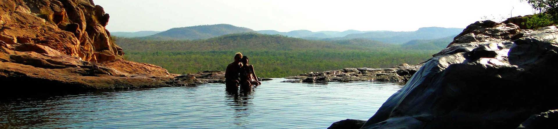 Where can you swim in Kakadu?